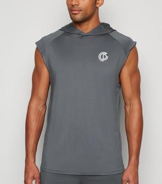 New Look GymPro Mesh Panel Hooded Vest