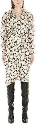 Isabel Marant All Over Print Draped Dress