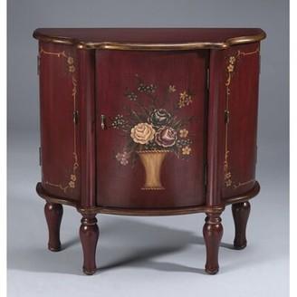 AA Importing 3 Door Cabinet in Antique Red