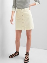 Gap Button-front denim mini skirt