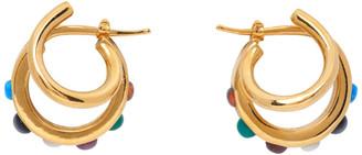 Panconesi Gold Stellar Gems Earrings