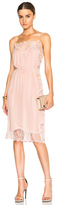 Fleur Du Mal Rose Lace Applique Slip Dress in Pink.