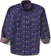 Visconti Printed Long-Sleeve Woven Shirt