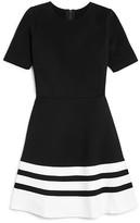 Aqua Girls' Stripe Hem Dress, Big Kid - 100% Exclusive