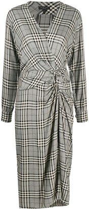 Rag & Bone Check-Pattern Wrap Dress