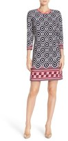 Eliza J Petite Women's Print Jersey Shift Dress