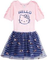 Hello Kitty Printed Mesh Tutu Dress, Little Girls