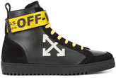 Off-White arrows high top sneakers - men - Leather/rubber - 39