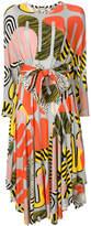 Henrik Vibskov abstract print midi dress