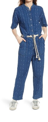 AG Jeans Emery Rope Belt Cotton Jumpsuit