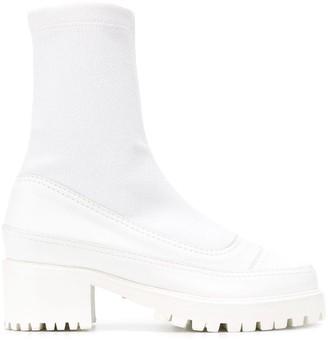 Nicole Saldaña Christina sock ankle boots