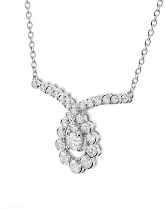 Hearts On Fire 18K 0.85 Ct. Tw. Diamond Aerial Regal Scroll Drop Necklace