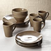 Crate & Barrel Marin Taupe 16-Piece Place Setting