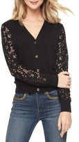 Juicy Couture Lace Sleeve Knit Cardigan