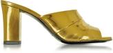 Jil Sander Laminated Leather High Heel Slide