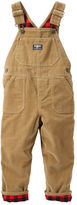 Osh Kosh Flannel-Lined Cordroy Overalls