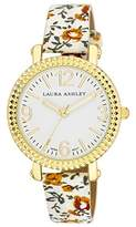 Laura Ashley Women's LA31005WT Analog Display Japanese Quartz White Watch