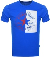 Converse Split Logo T Shirt Blue