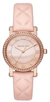 MICHAEL Michael Kors Women's Norie Crystal Accent Leather Strap Watch, 28Mm