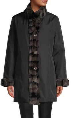 Belle Fare Reversible Rex Rabbit Fur Coat