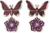 We Dream In Colour Butterfly Drop Earrings, Purple