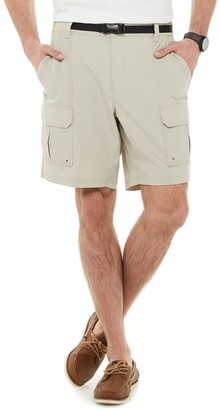 Croft & Barrow Big & Tall Belted Ripstop Cargo Shorts