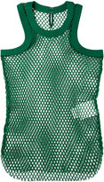 Sacai fishnet tank top - women - Cotton - III