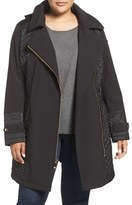 Via Spiga Water Repellent Quilted Soft Shell Jacket (Plus Size)