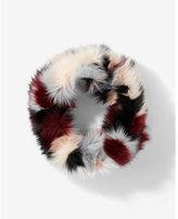Express color block loop scarf