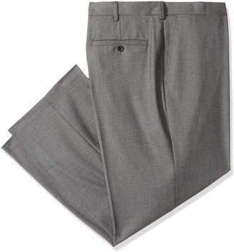 J.M. Haggar Men's Big & Tall Sharkskin Premium Classic-Fit Stretch Suit Separate Pant