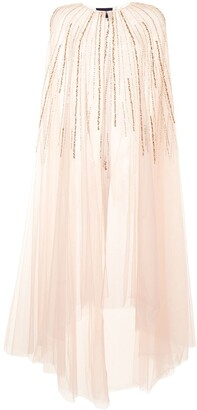 Marchesa Notte Bead Embroidery Tulle Gown