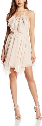 Lipsy Women's Ruffle Lace Up Dress