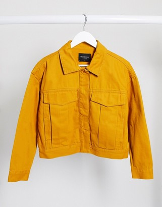 Brave Soul frederique twill jacket with pocket detail in mustard