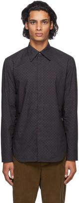 Maison Margiela Navy Tie Print Shirt