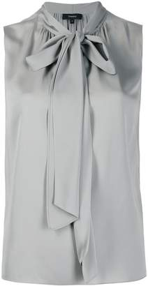 Theory pussy bow neck blouse