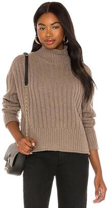 Autumn Cashmere Ribbed Mock Neck Sweater