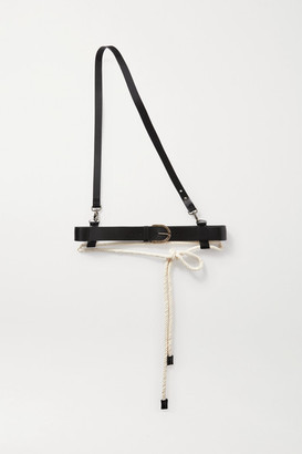 Ann Demeulemeester Rope And Leather Belt - Black