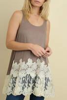 Umgee USA Floral Lace Tank