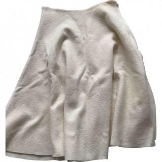 Vanessa Bruno Ecru Wool Skirt for Women