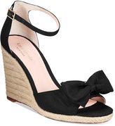 Kate Spade Broome Bow Wedge Sandals