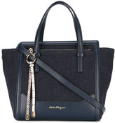 Salvatore Ferragamo denim tote bag - women - Cotton/Calf Leather - One Size