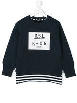Diesel logo print sweatshirt - kids - Cotton - 7 yrs