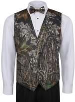 Mossy Oak Vest For Men w/ Long Tie & Bow Tie
