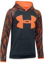 Under Armour Boys' Printed-Big-Logo Hoodie - Big Kid