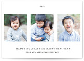 Minted Date Stamp Christmas Photo Cards