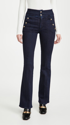 Veronica Beard Jeans Beverly Jeans with Side Buttons