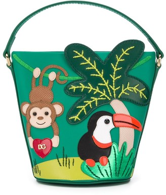 Dolce & Gabbana Kids Animal Applique Bucket Bag