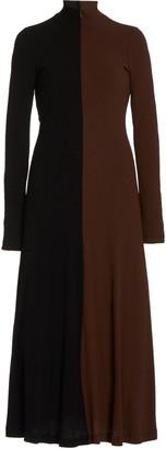Rosetta Getty Moda Exclusive Two-Tone Knit Midi Dress