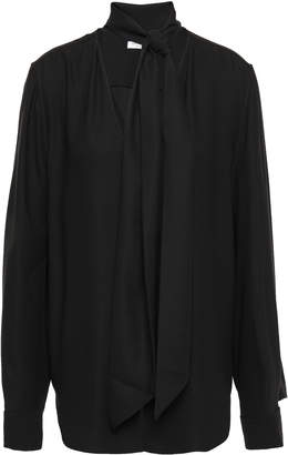 Equipment Haty Tie-neck Washed-crepe Blouse