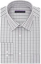 Geoffrey Beene Men's Tall Bedford Cord Classic-Fit Silver Check Dress Shirt